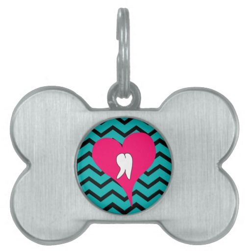 Dental Tooth and Chevron Design Pet Name Tags http://www.zazzle.com/dental_tooth_and_chevron_design_pet_name_tags-256435002944583852?rf=238282136580680600