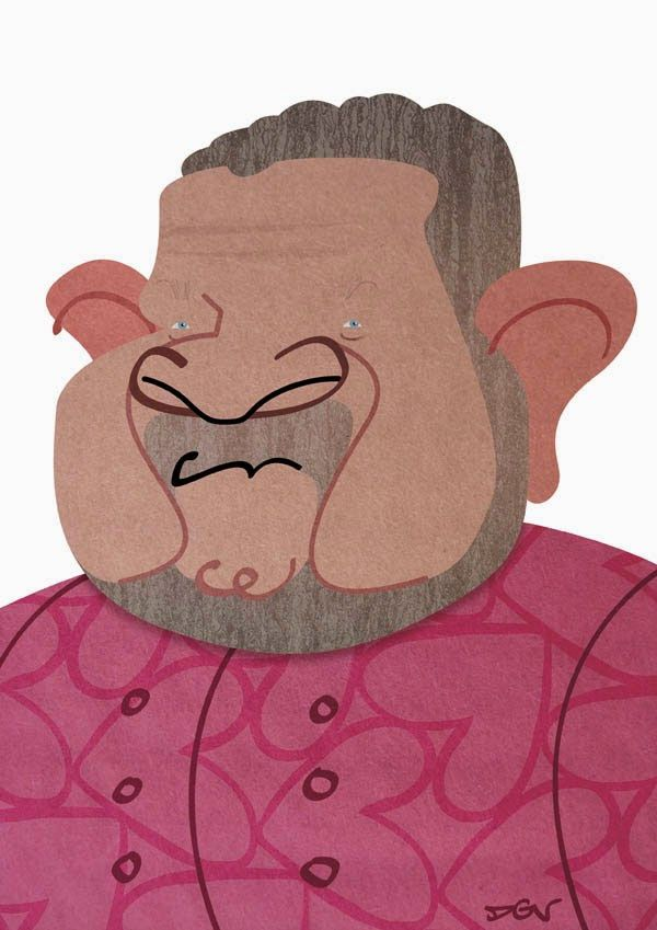 Caricatura de Alberto Chicote