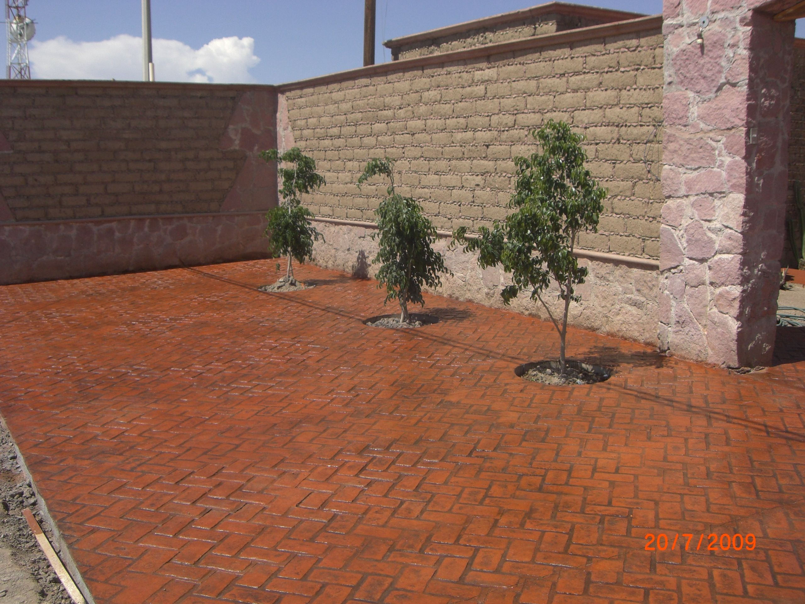 Concreto estampado en color nuevo mexico concreto for Estampado de hormigon