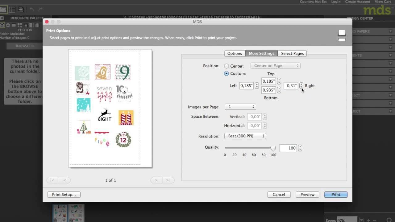 my digital Studio - MDS - Stampin UP - wie Drucken