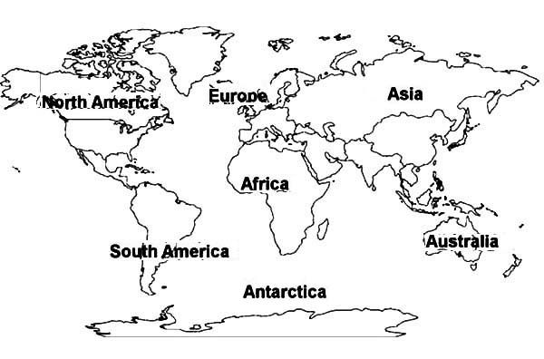 Continents Colouring Pages World Map Coloring Page World Map Printable World Map Outline