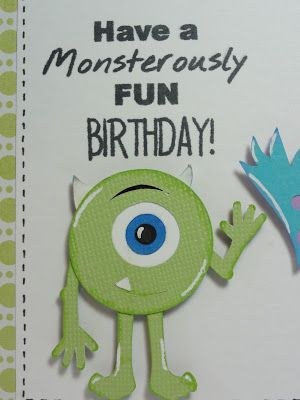 My Craft Spot Dt Post By Gigi Monstrously Fun Monster Inc Birthday Happy Birthday Disney Monsters Inc