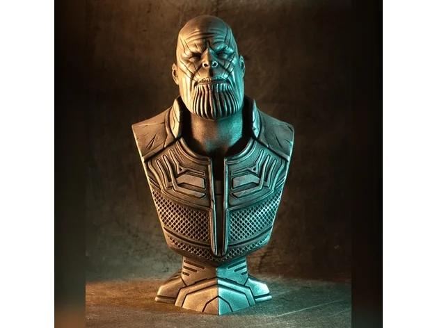 Infinity War Thanos Bust Fan Art By Eastman3d Thingiverse Fan Art Infinity War War