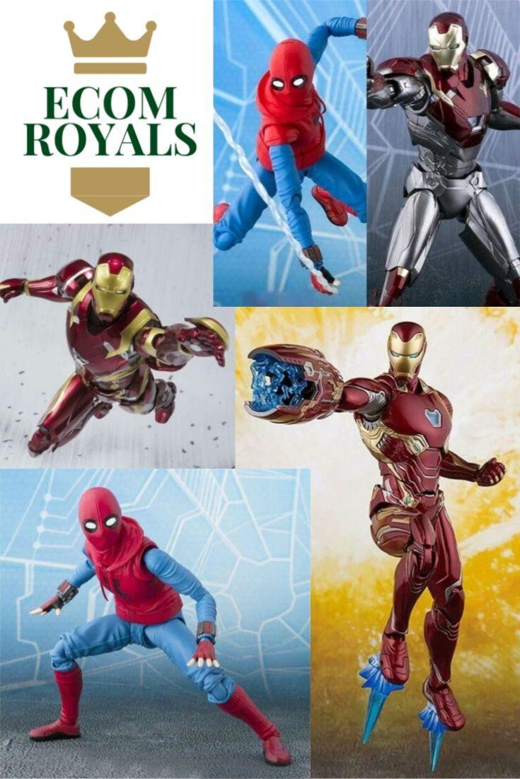 Figurine marvel avenger end game iron man mk46 spiderman