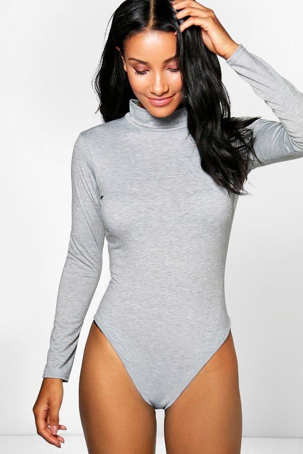 c592d9588 boohoo Felicity Turtle Neck Long Sleeve Basic Bodysuit | FASHION in ...
