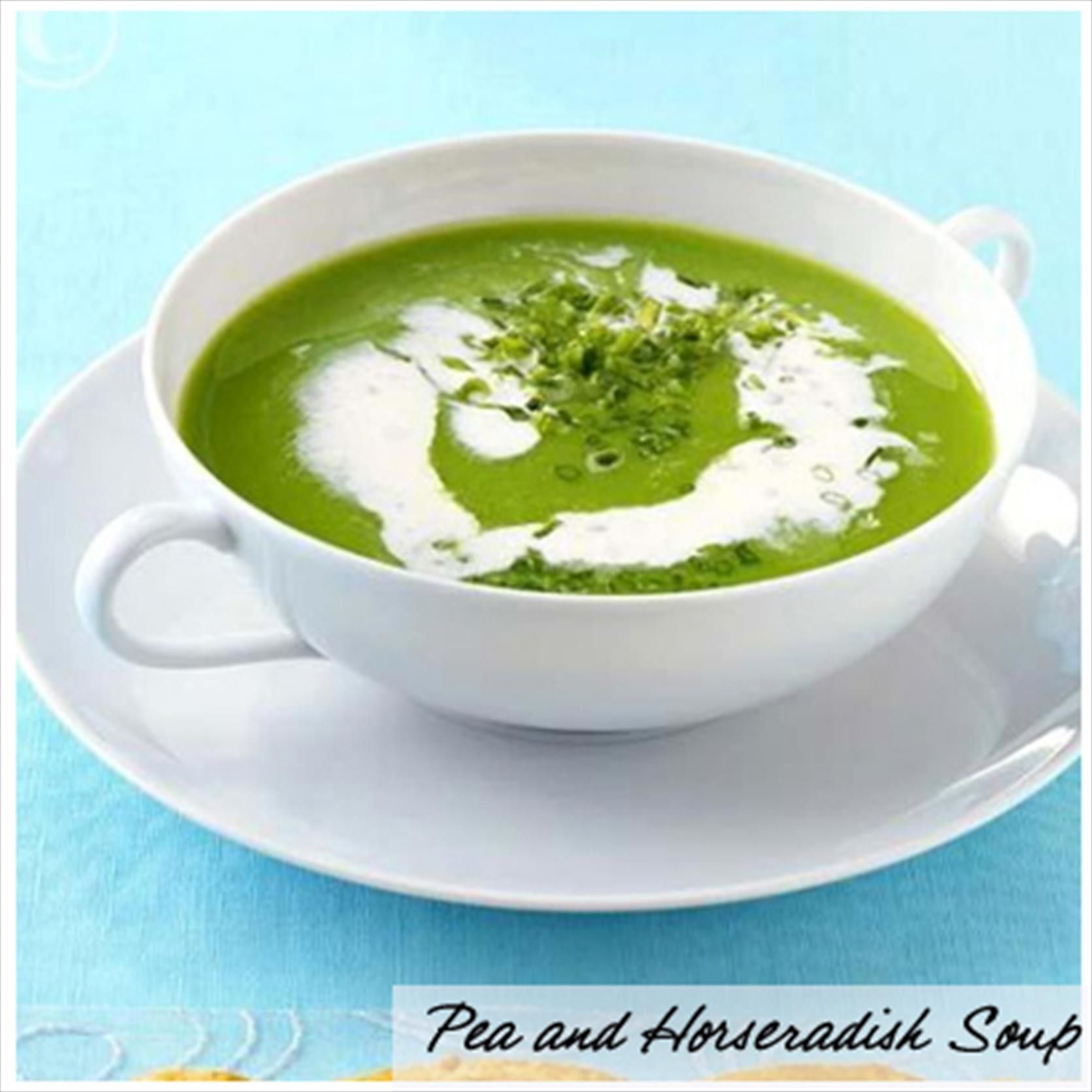 Pea & Horseradish Soup