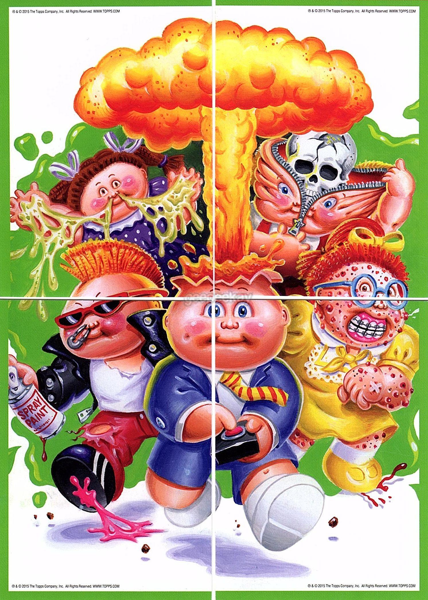 Garbage Pail Kids Micro Comic Fun Packs Puzzle Geepeekay Garbage Pail Kids Kids Poster Kids