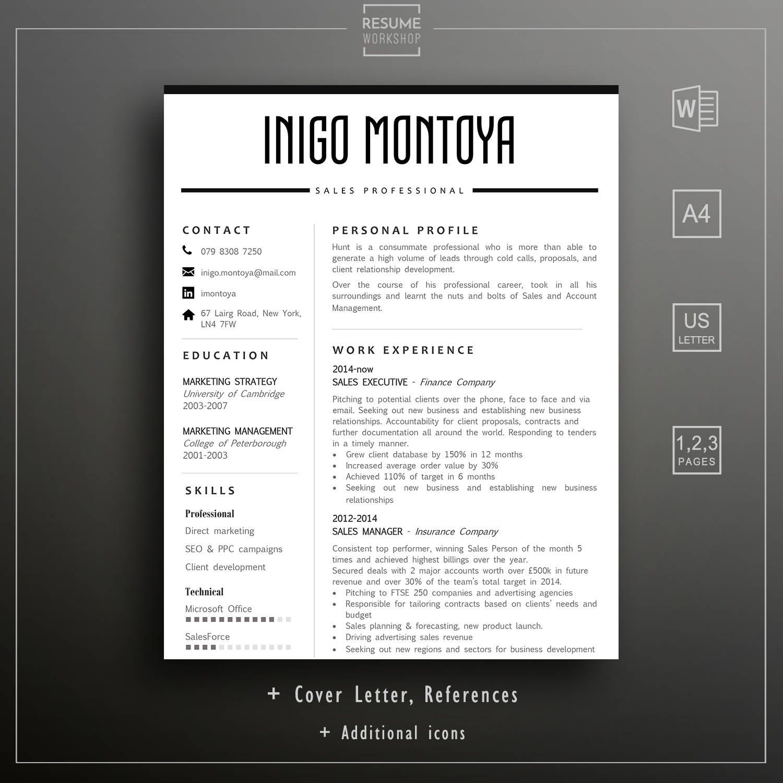 Resume Template Professional CV Template Resume Format