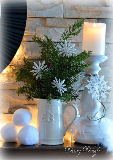 Clean Cozy Neutral Winter Decorating Ideas #winterdecor