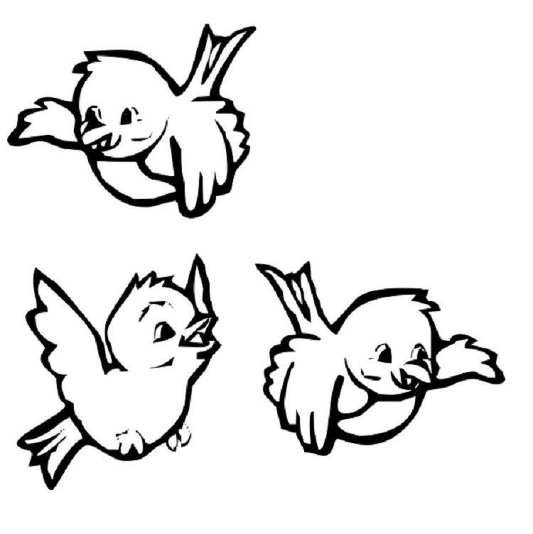 Coloring Page Of A Bird Flying Bird Coloring Pages Coloring Pages Coloring Pages For Kids