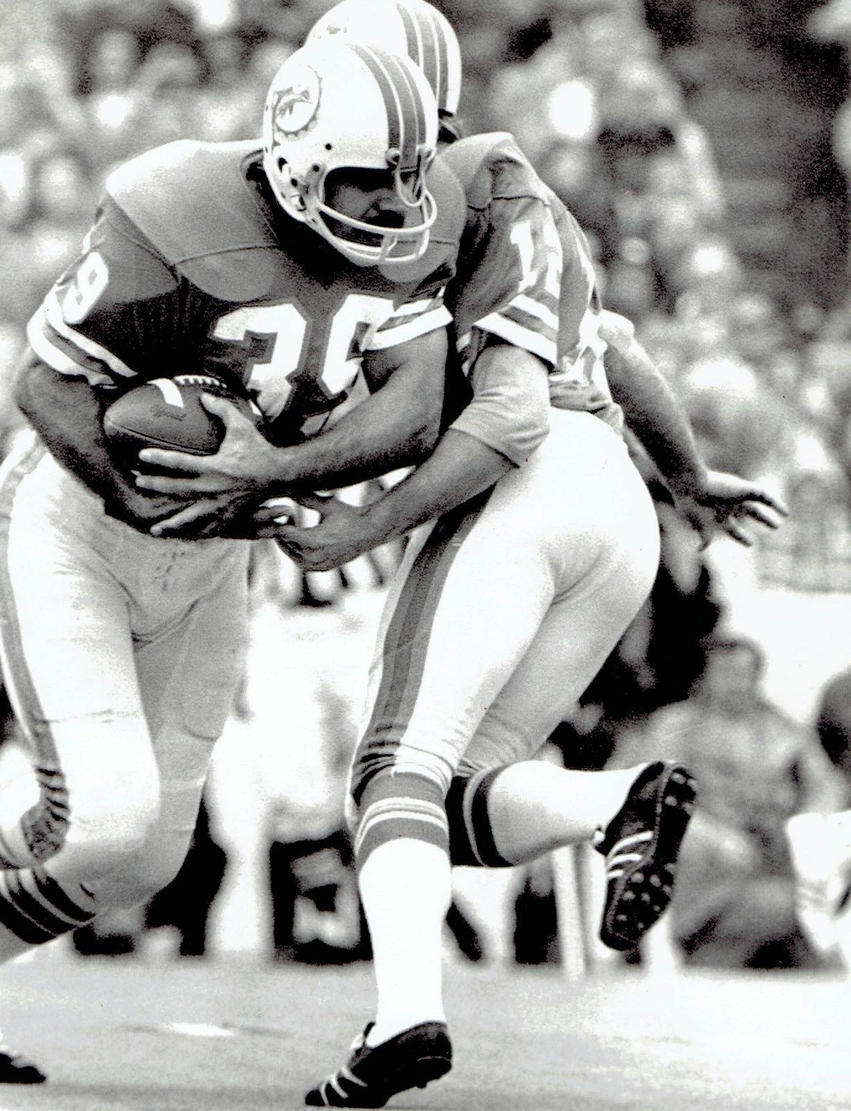 1974 AP Wire Photo Super Bowl VIII game action MVP Miami Dolphins ...