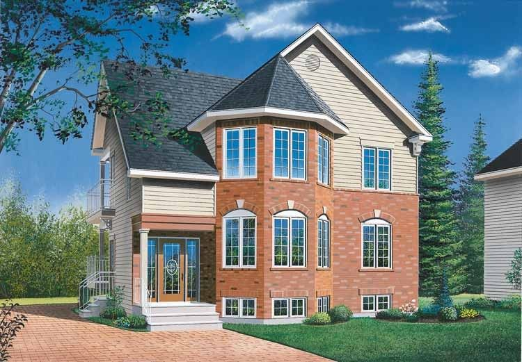 European Style House Plan 2 Beds 1 Baths 2000 Sq/Ft Plan