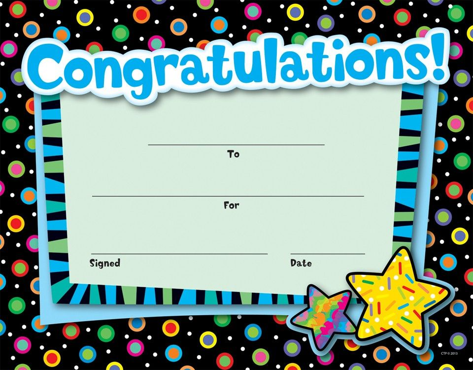 Congratulations  Awards  Poppin Patterns Classroom Theme