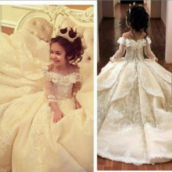 2018 vintage lace flower girl dresses elegant off shoulder wide v vintage lace flower girl dresses elegant off shoulder wide v neck ball gown little girl pageant dresses gowns mightylinksfo