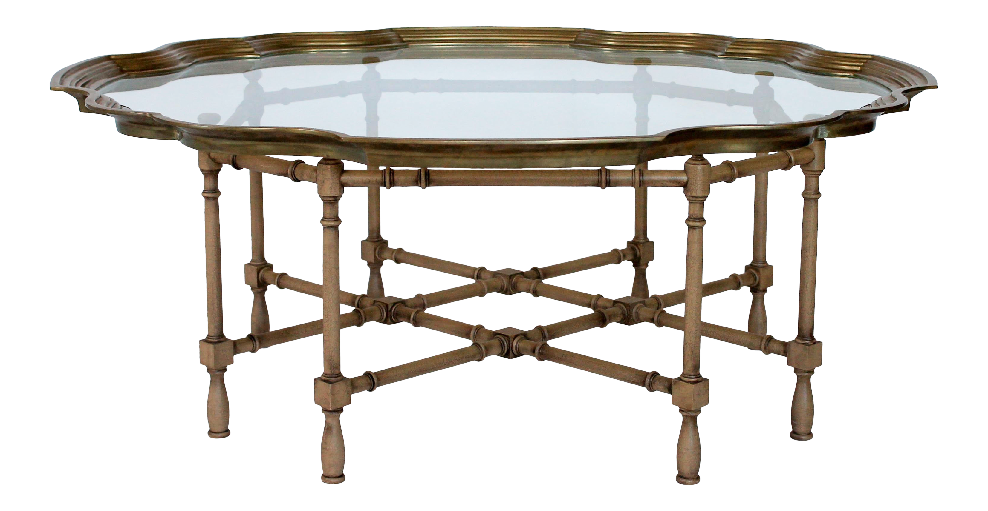 Faux Bamboo And Brass Baker Style Coffee Table On Chairish Com Coffee Table Table Faux Bamboo [ 1712 x 3306 Pixel ]