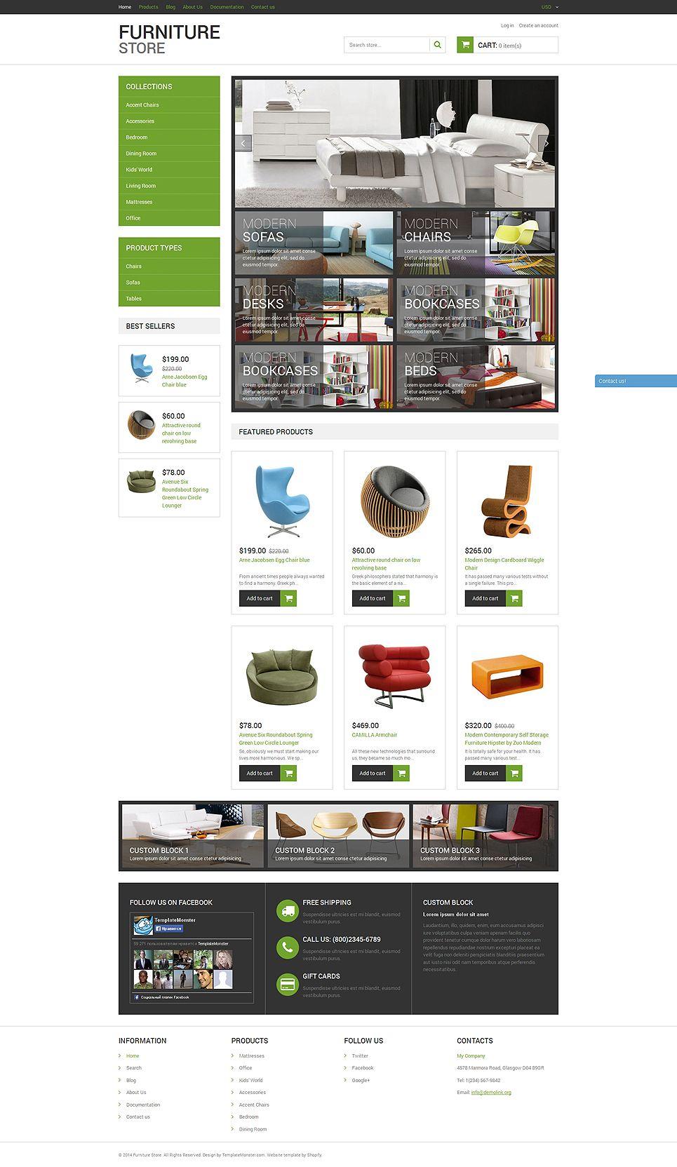 Modern furniture shopify theme furniture modern theme