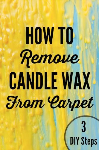 How to Remove Candle Wax from Carpet by Woodard Cleaning ...