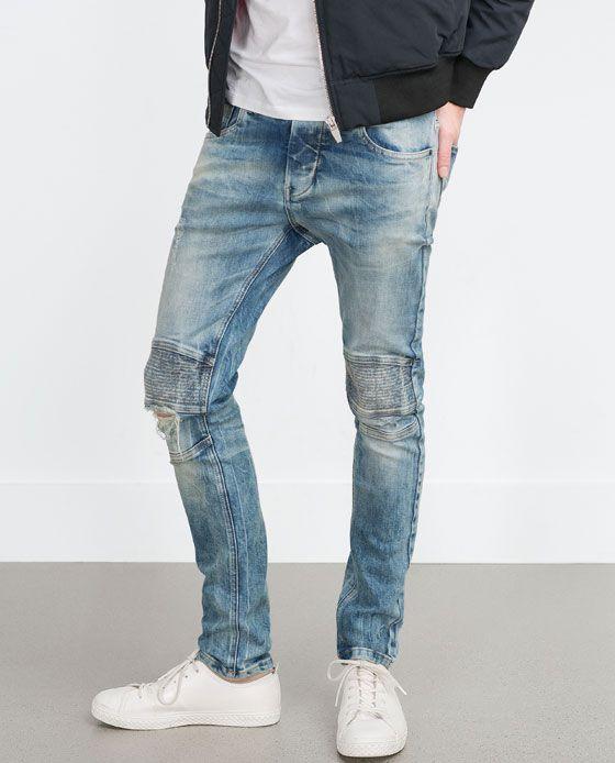 bb8f1eca Image 2 of BIKER JEANS from Zara | Fashion | Biker jeans, Mens ...