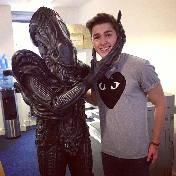 Chilling with Abigail the alien...