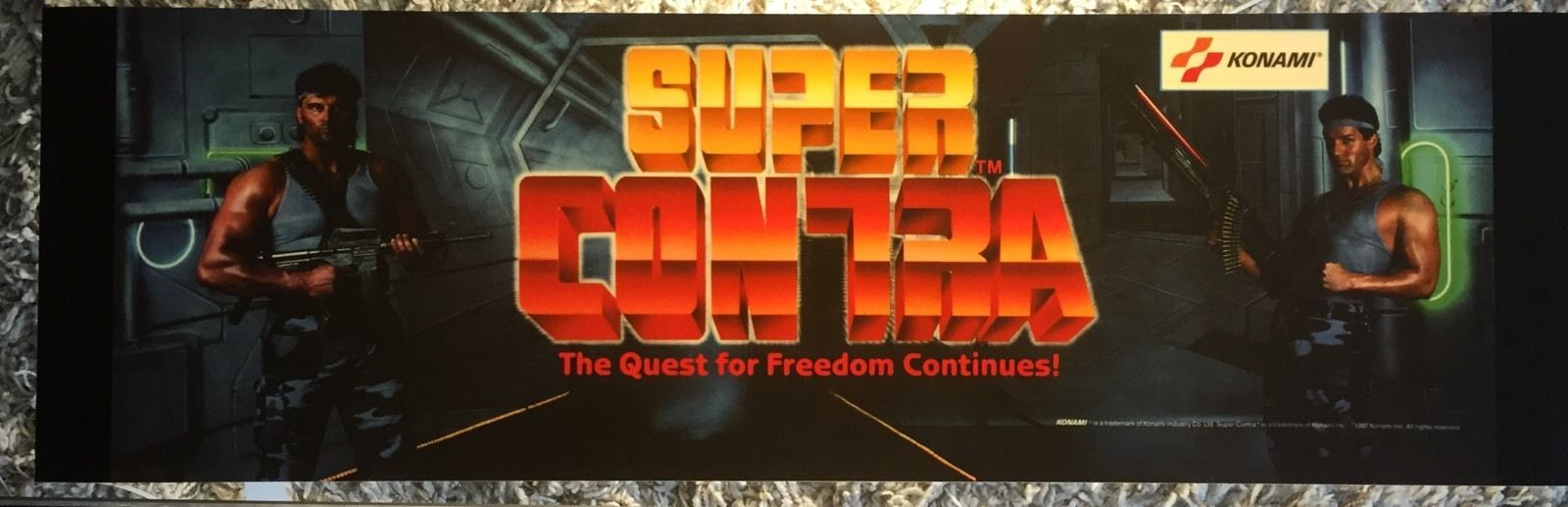 Super Contra Arcade Marquee 26 034 x8 034   eBay