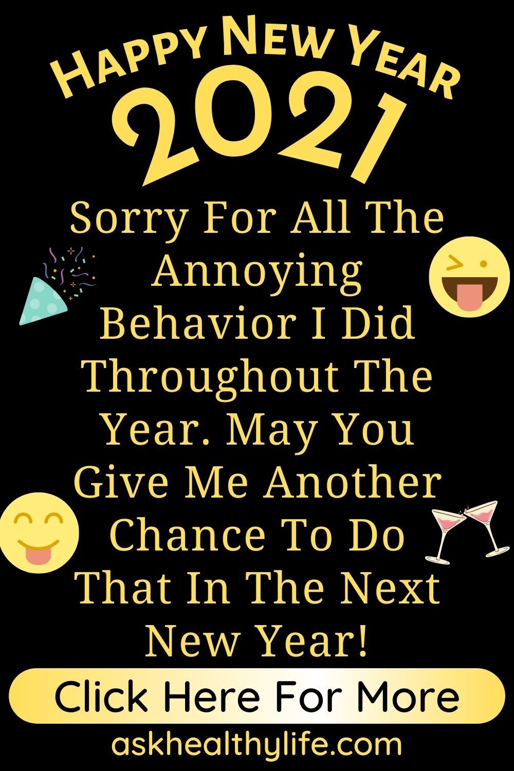 53 Happy New Year 2021 Wishes Funny May You Give Me Another Chance To Do That In The N New Year Wishes Quotes New Year Wishes Funny New Year Wishes Messages