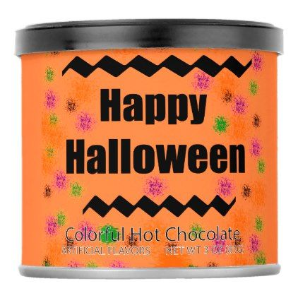 #Happy Halloween in Paint splatter Hot Chocolate Powdered Drink Mix - #Halloween happy halloween #festival #party #holiday