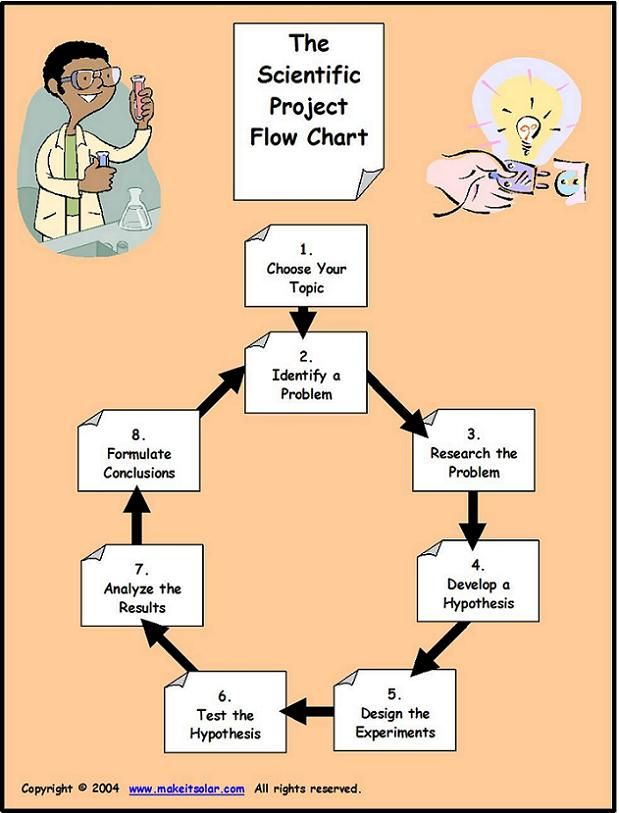 Flow Chart for The Scientific Method (Scientist, PBL) | Scientist ...