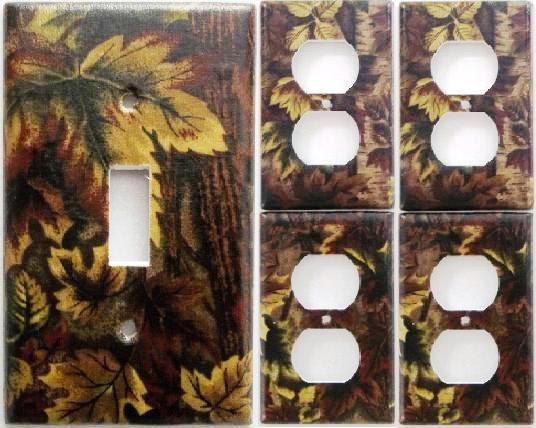 Mossy Oak Camo Camouflage Light Switch Plate Cover Set 1&4