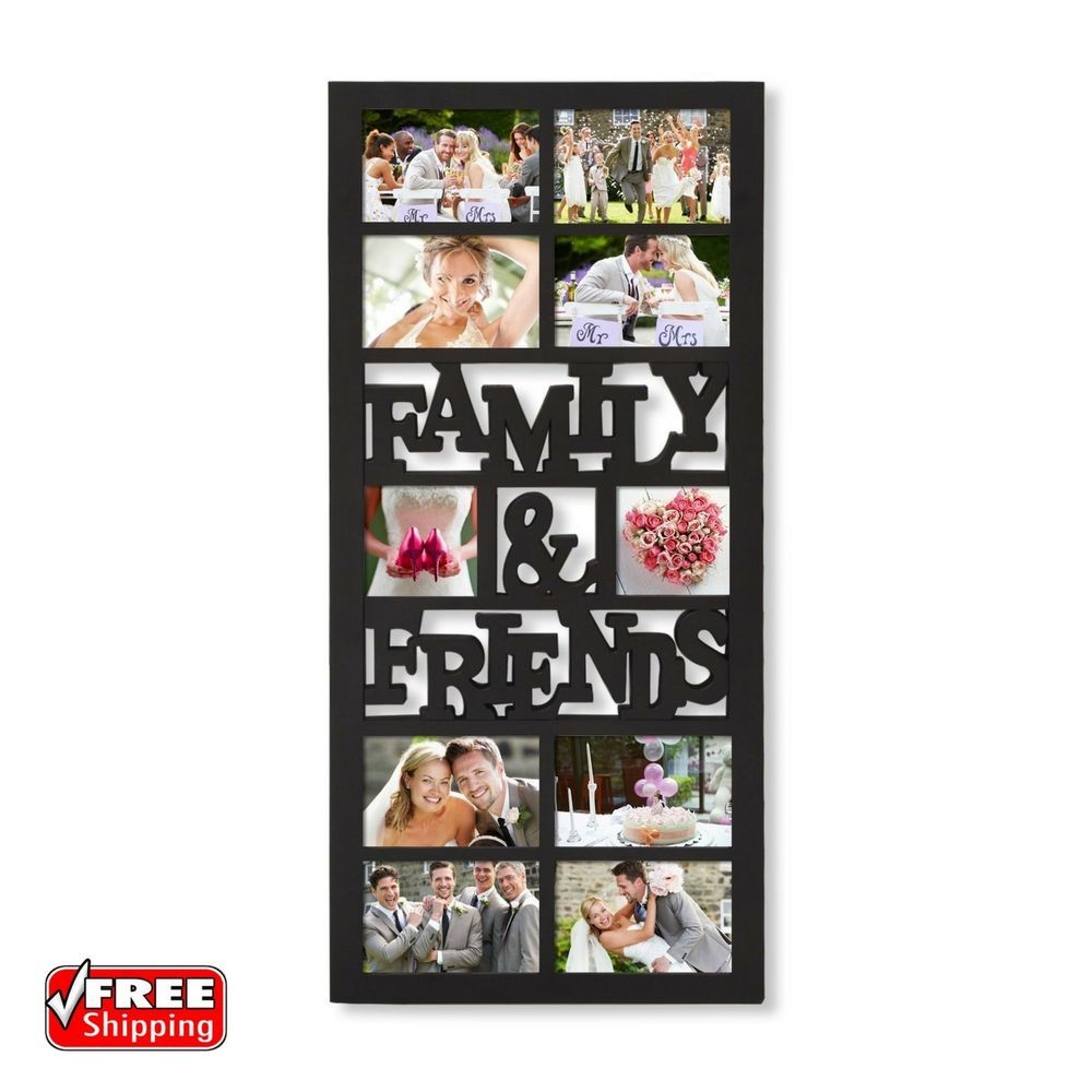10 opening hanging family and friends collage picture photo wall 10 opening hanging family and friends collage picture photo wall frame black home jeuxipadfo Images
