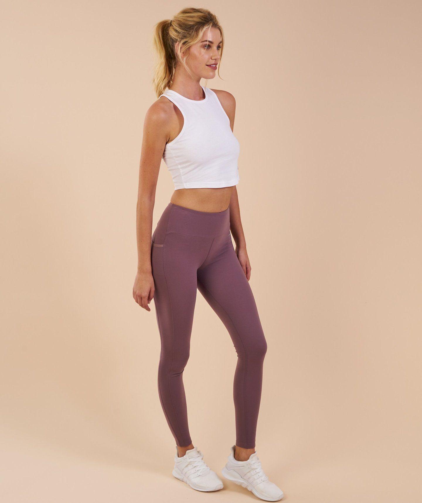 0e20b3455a3ea Gymshark Aspire Leggings - Purple Wash 3