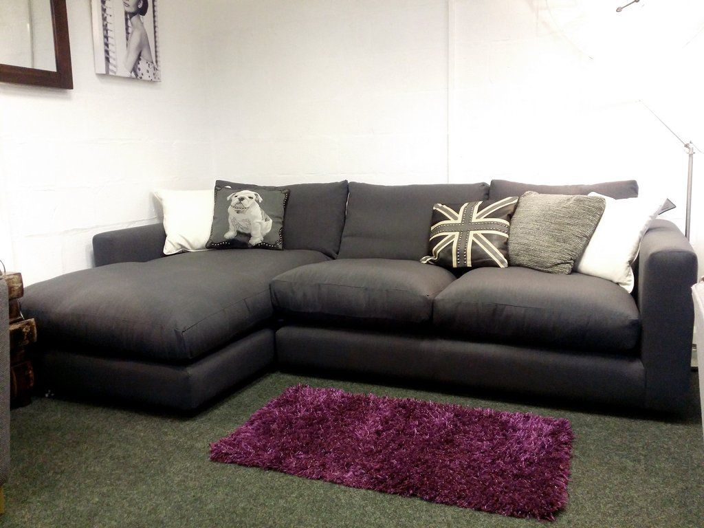 debenhams rjr.john rocha trinity grey left hand corner sofa only