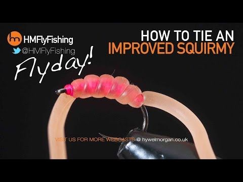 Squirmy Wormy Fly One Dozen Bloodworm and Tan