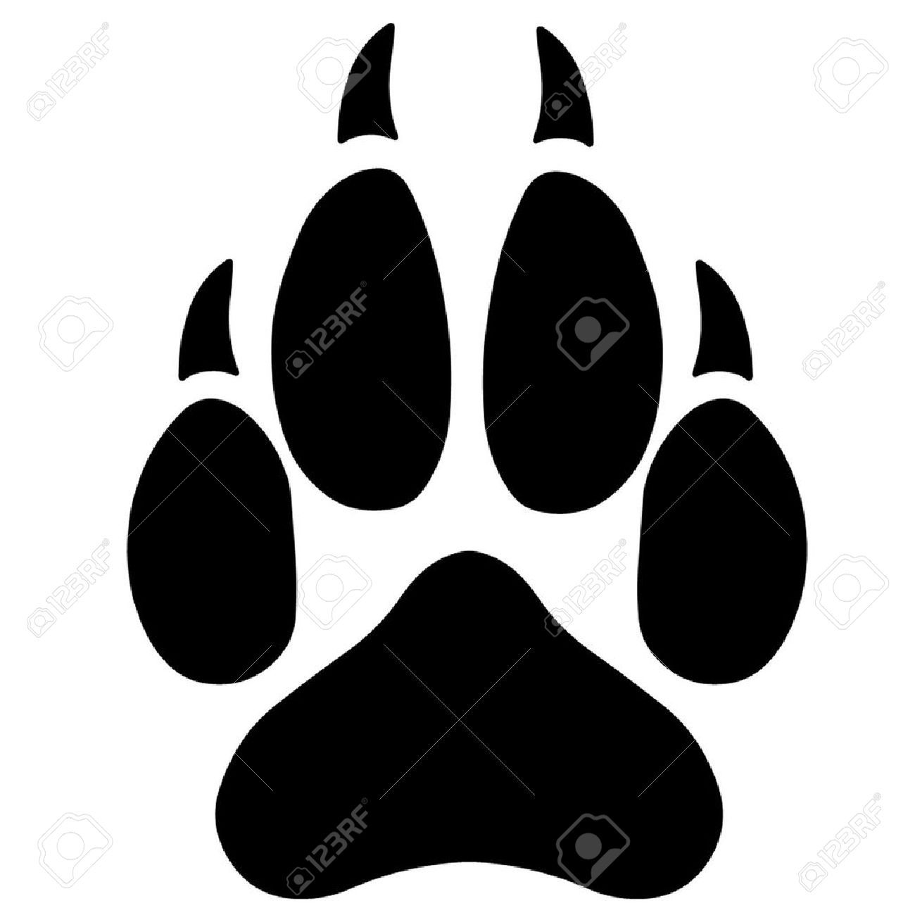 wolf paw print silhouette google search wolf vorlagen malen. Black Bedroom Furniture Sets. Home Design Ideas