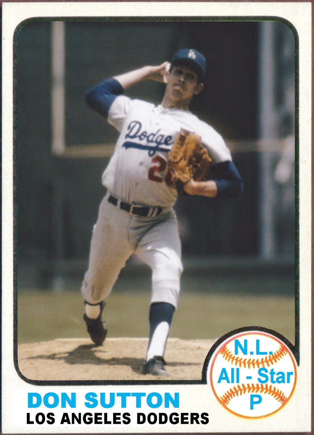1973 Topps All Star Cards National League West Old