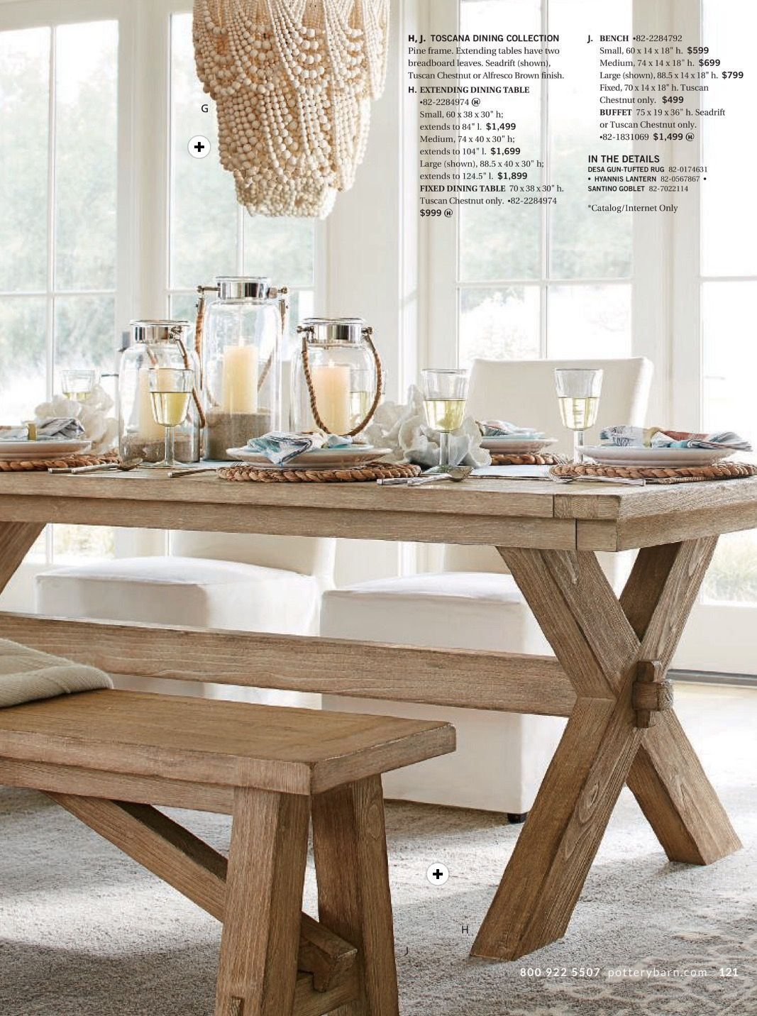 Strange Toscano Dining Table And Bench In Seadrift Amelia Wood Bead Alphanode Cool Chair Designs And Ideas Alphanodeonline
