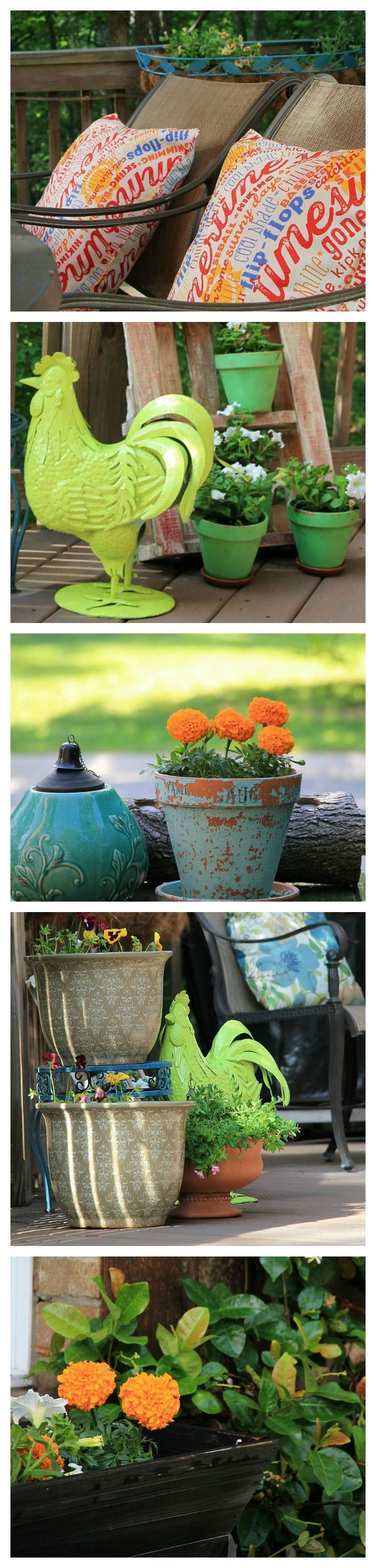 Outdoor deck projects and container gardening.