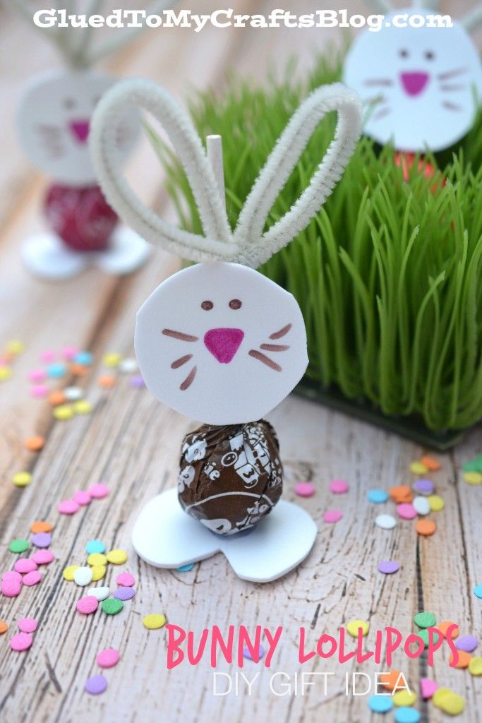 Bunny lollipops diy gift idea bunny easter and gift bunny lollipops diy gift idea negle Choice Image