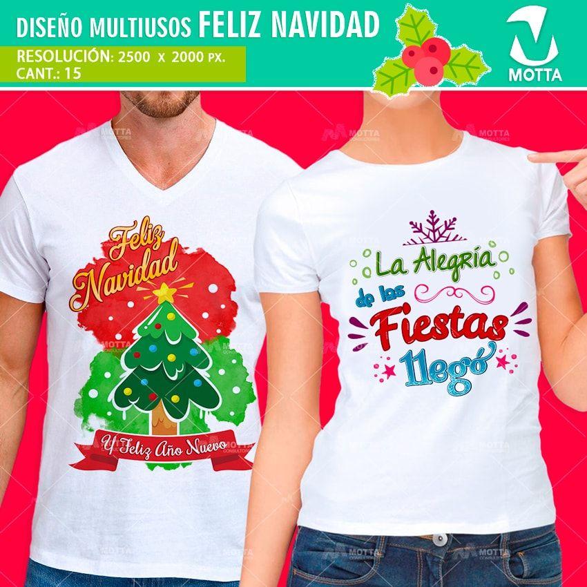 0c03e41fa69fd FRASES FELIZ NAVIDAD PARA ESTAMPADO CAMISETA Diseños incluidos  Feliz  Navidad y Feliz Año Nuevo