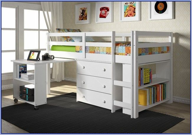 Full Size Low Loft Bed With Desk Low Loft Beds Twin Loft Bed