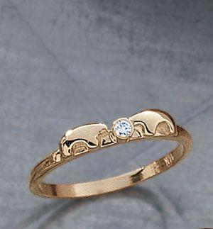 Tiny Bear Diamond Ring Vail
