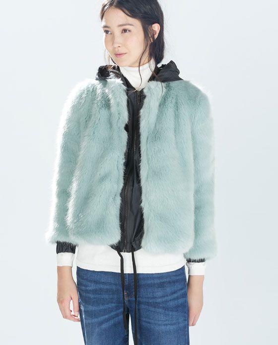 COLORED FUR COAT - Trf - Outerwear - WOMAN | ZARA Germany