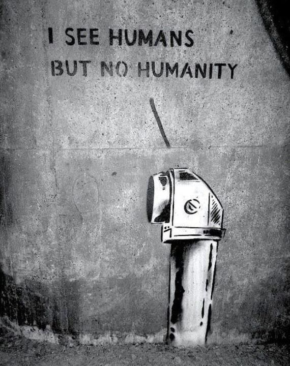 I see humans but no humanity jason donohue