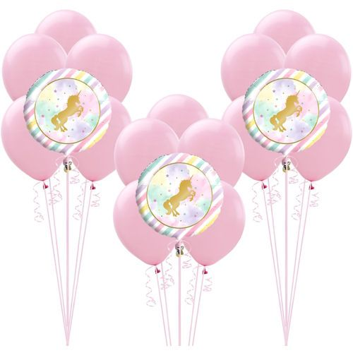 Sparkling Unicorn Balloon Kit Party City Themed Birthday 17th