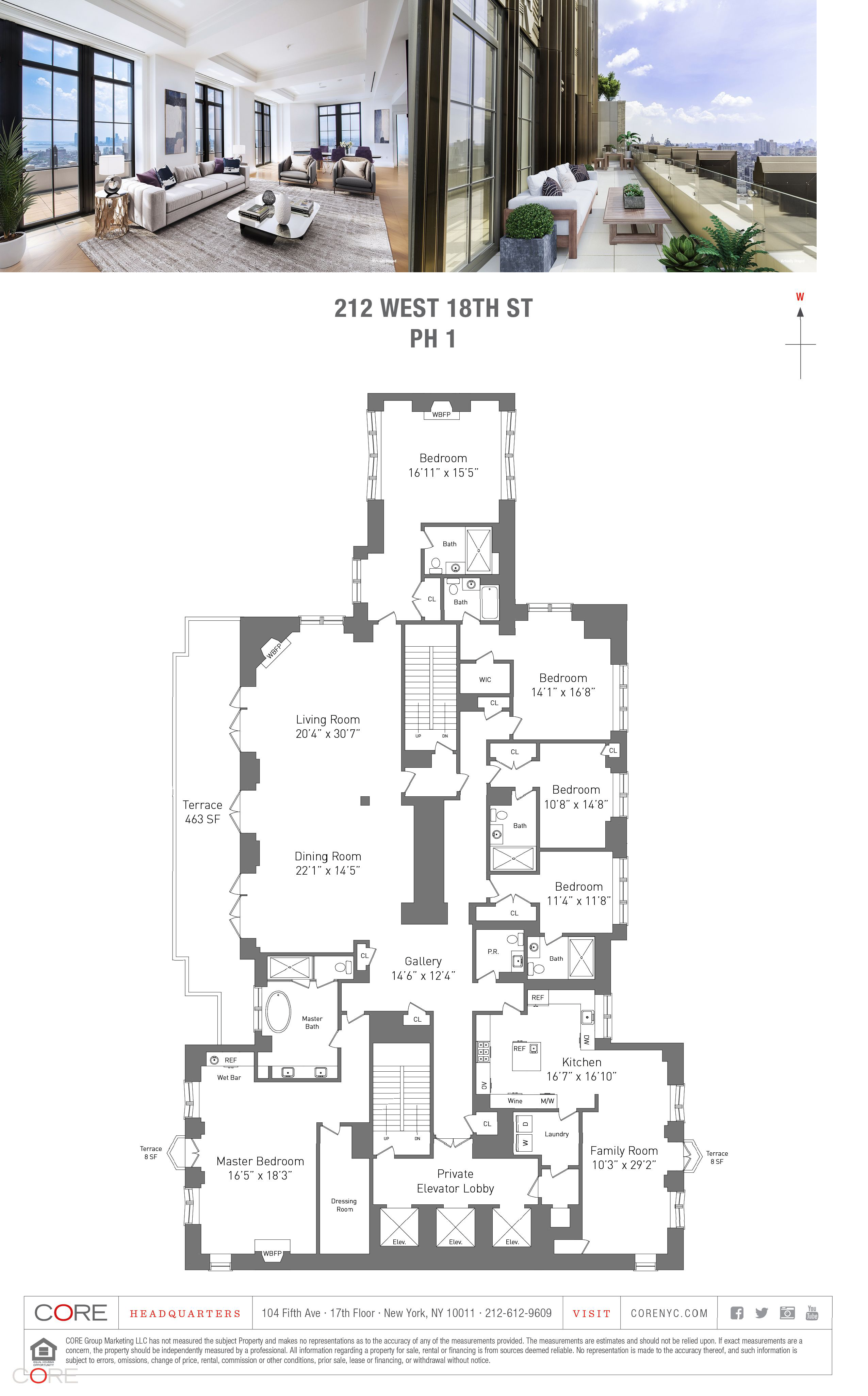 Re 212 West 18th St Penthouse1 New York Ny 10011 Core Real Estate Luxury Floor Plans Penthouse Apartment Floor Plan Craftsman House Plans