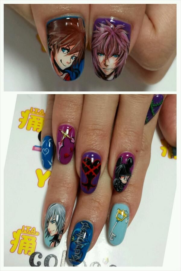 color\'sすみな西山 on | Anime nails, Kawaii nails and Kawaii nail art