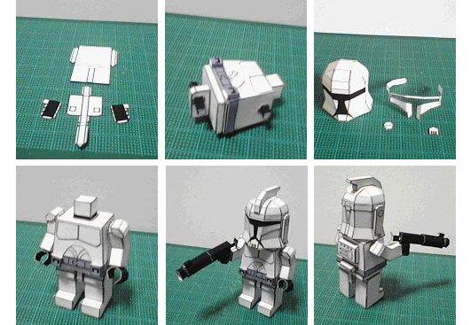 Make Your Own Papercraft Star Wars Minifigs Star Wars Crafts Paper Box Diy Paper Crafts