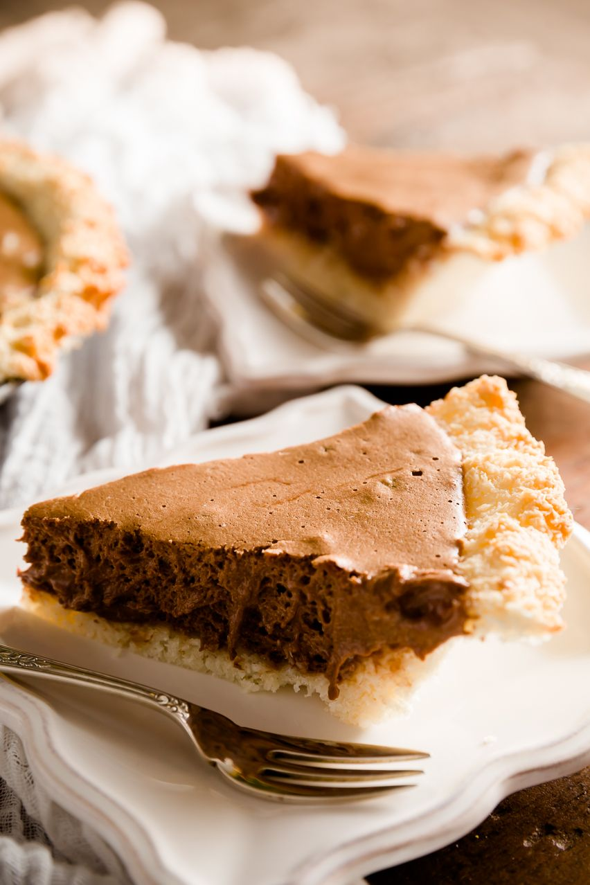 Check out Chocolate Mousse Pie with Coconut Macaroon Crust. It's ...