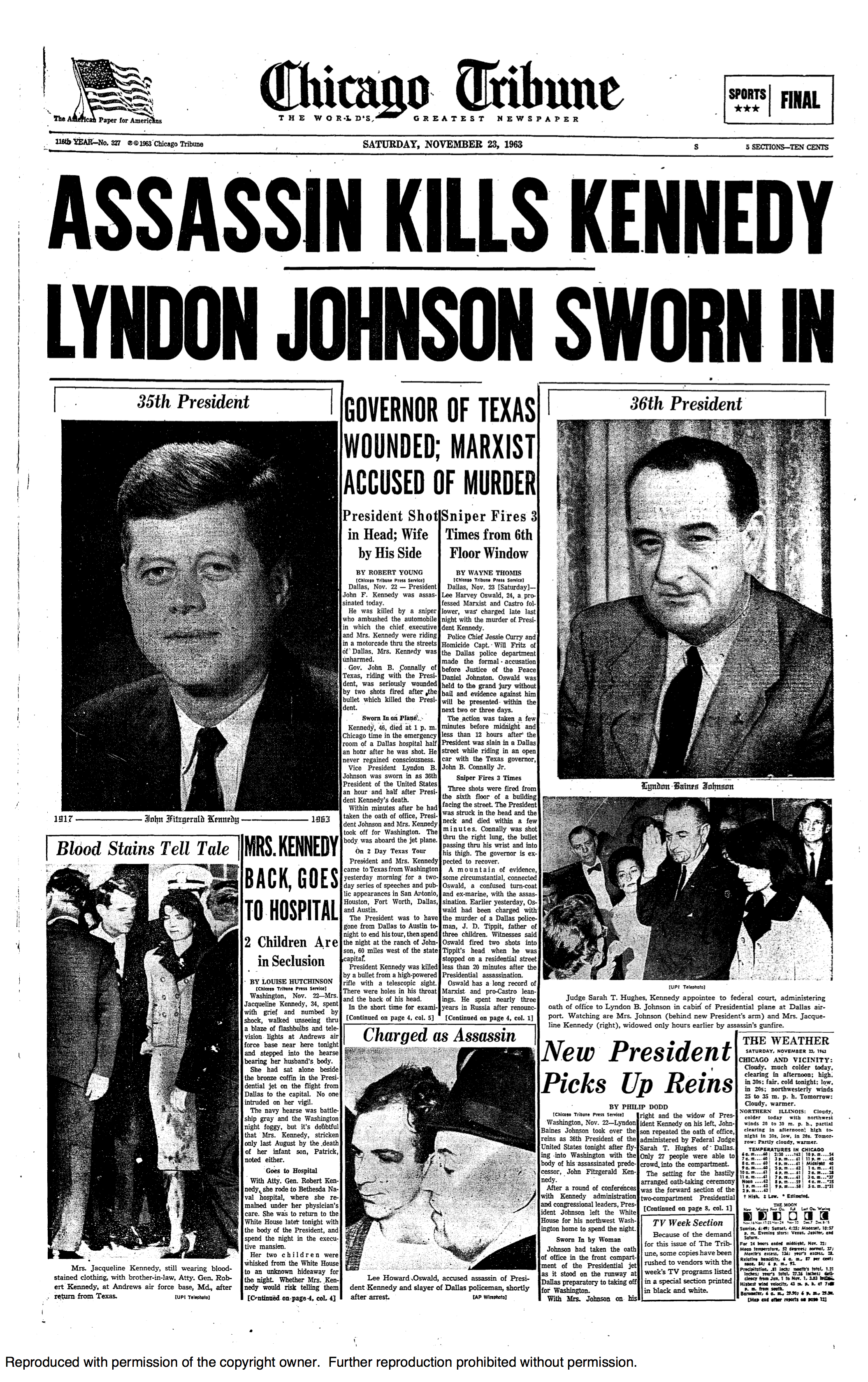 The presidency and assassination of us president john f kennedy in 1963