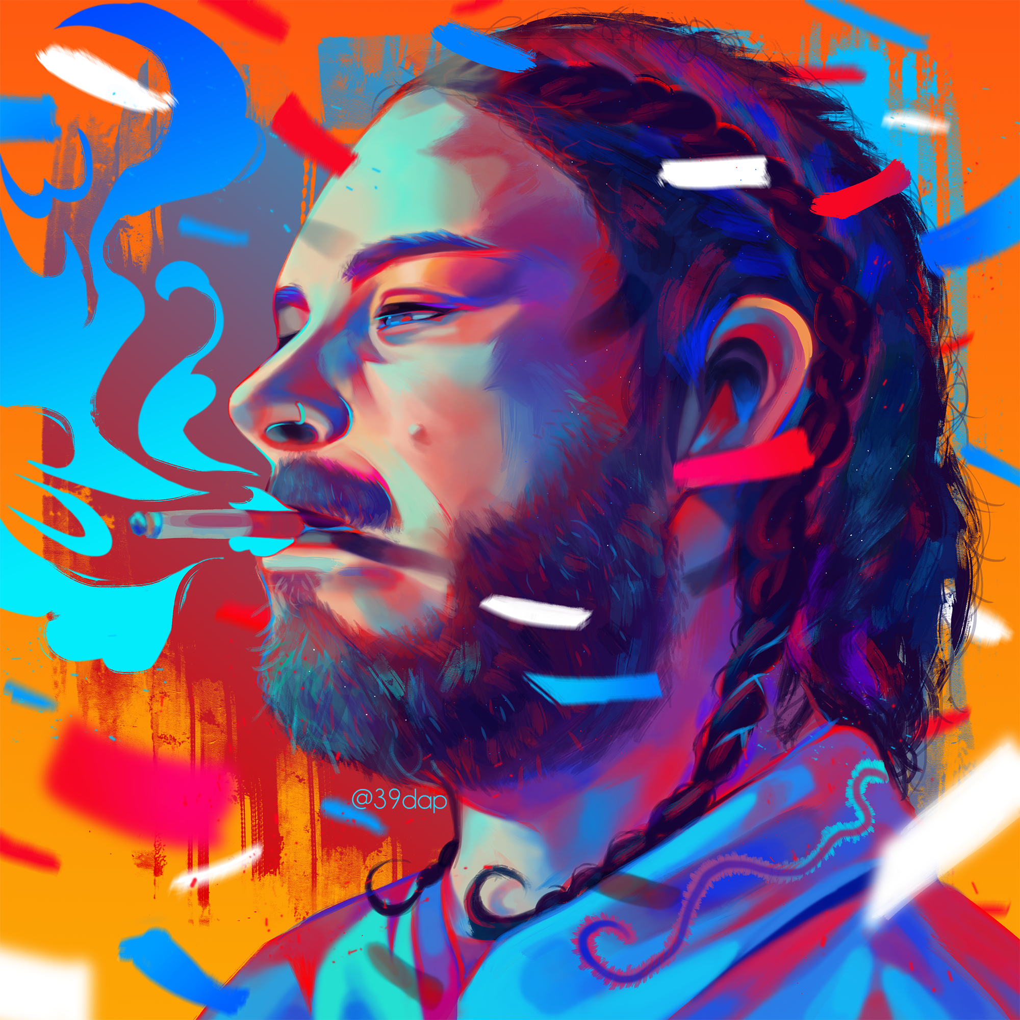 Post Malone Clip Art: Post Malone', Digital, [2000x2000px] Posted By /u/39dap To