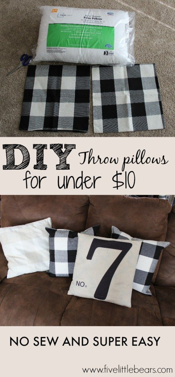 Download Easy DIY Pillows from fivelittlebears.com